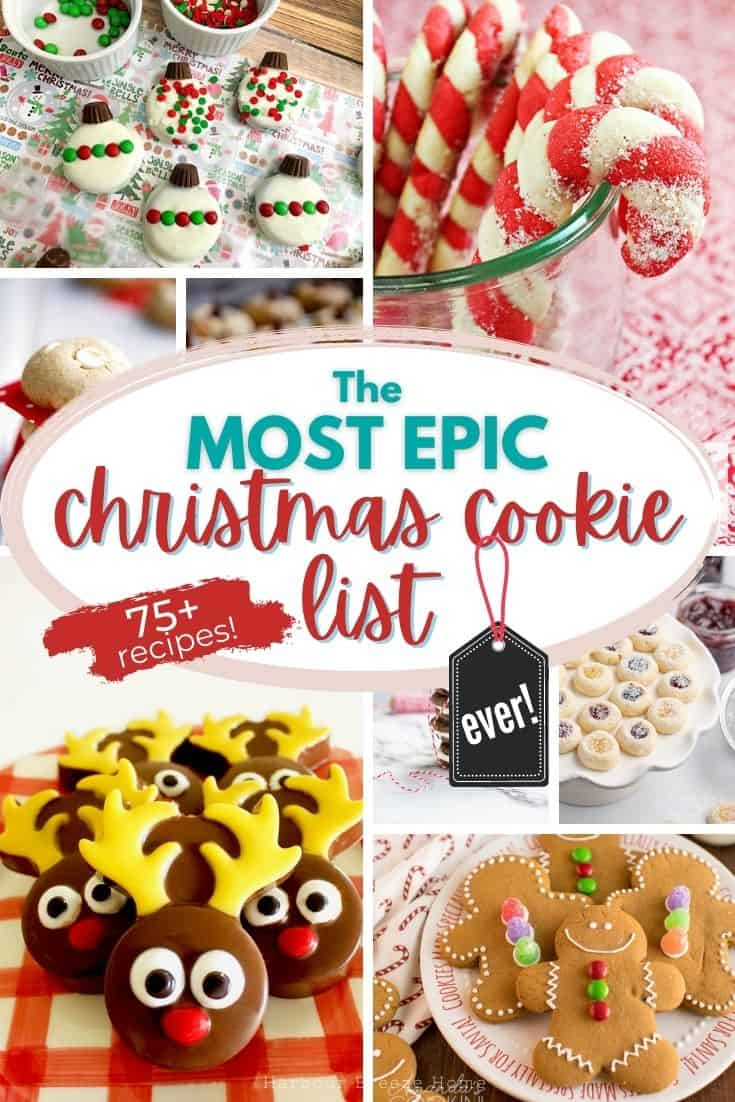 collage of christmas cookie images