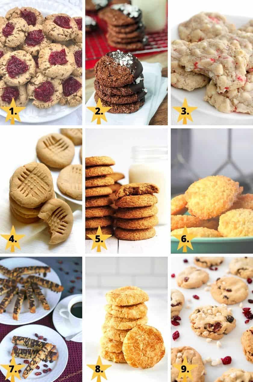 Pictures of gluten free & vegan Christmas cookies