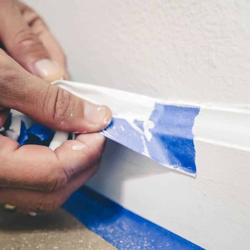 How to Get Perfectly Straight Paint Lines Using Painters Tape