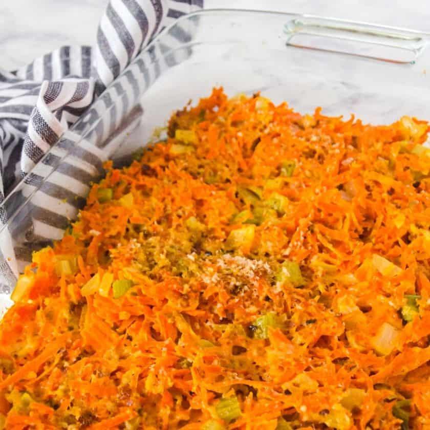 Make Ahead Easy Cheesy Baked Carrot Casserole