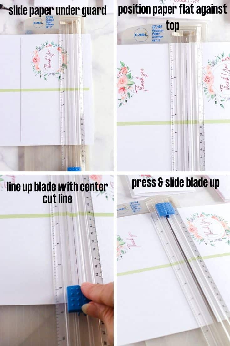 4 Steps for how to use a Carl paper trimmer