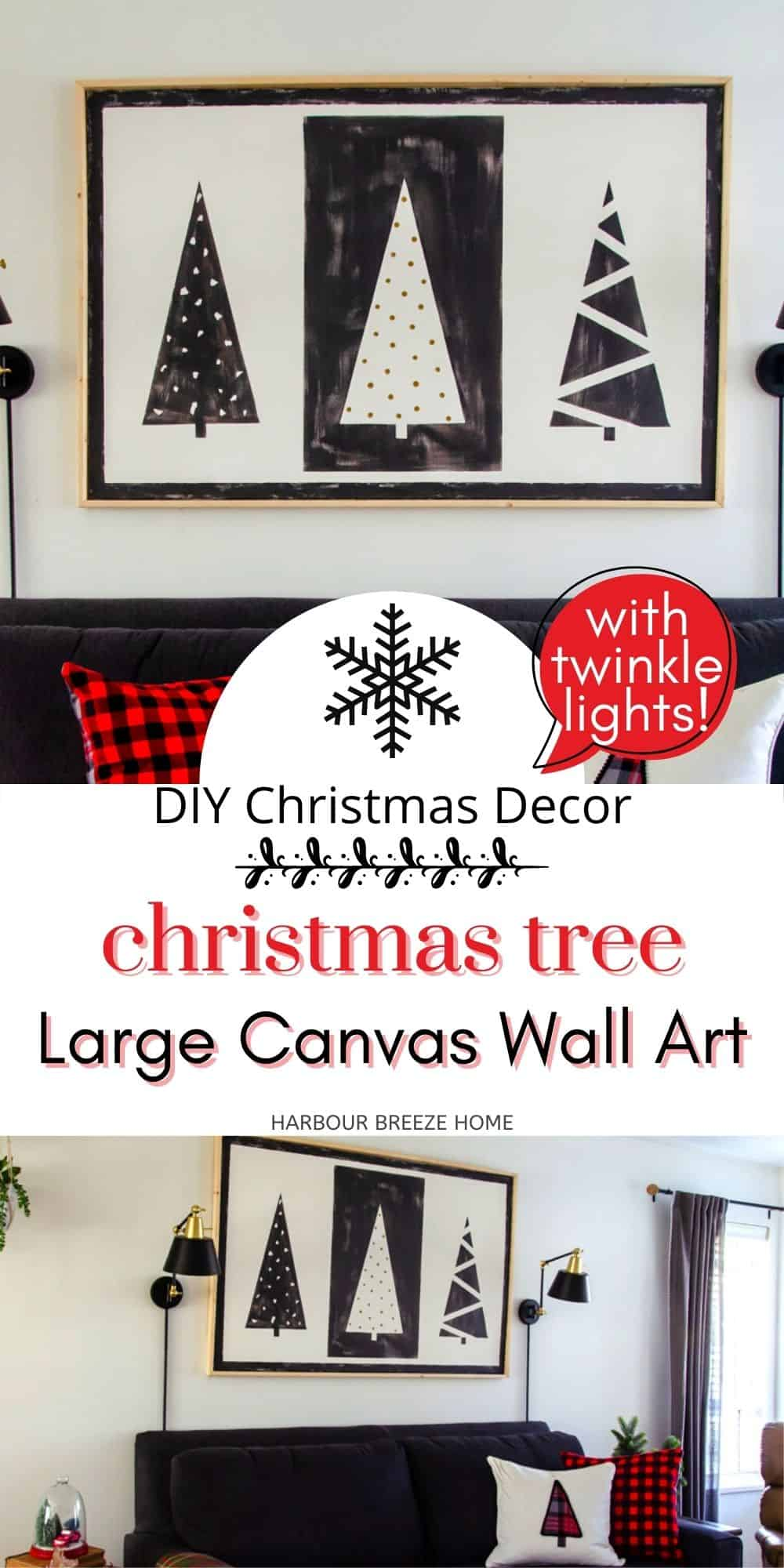 Diy Canvas Wall Art That Lights Up For Christmas Harbour Breeze Home