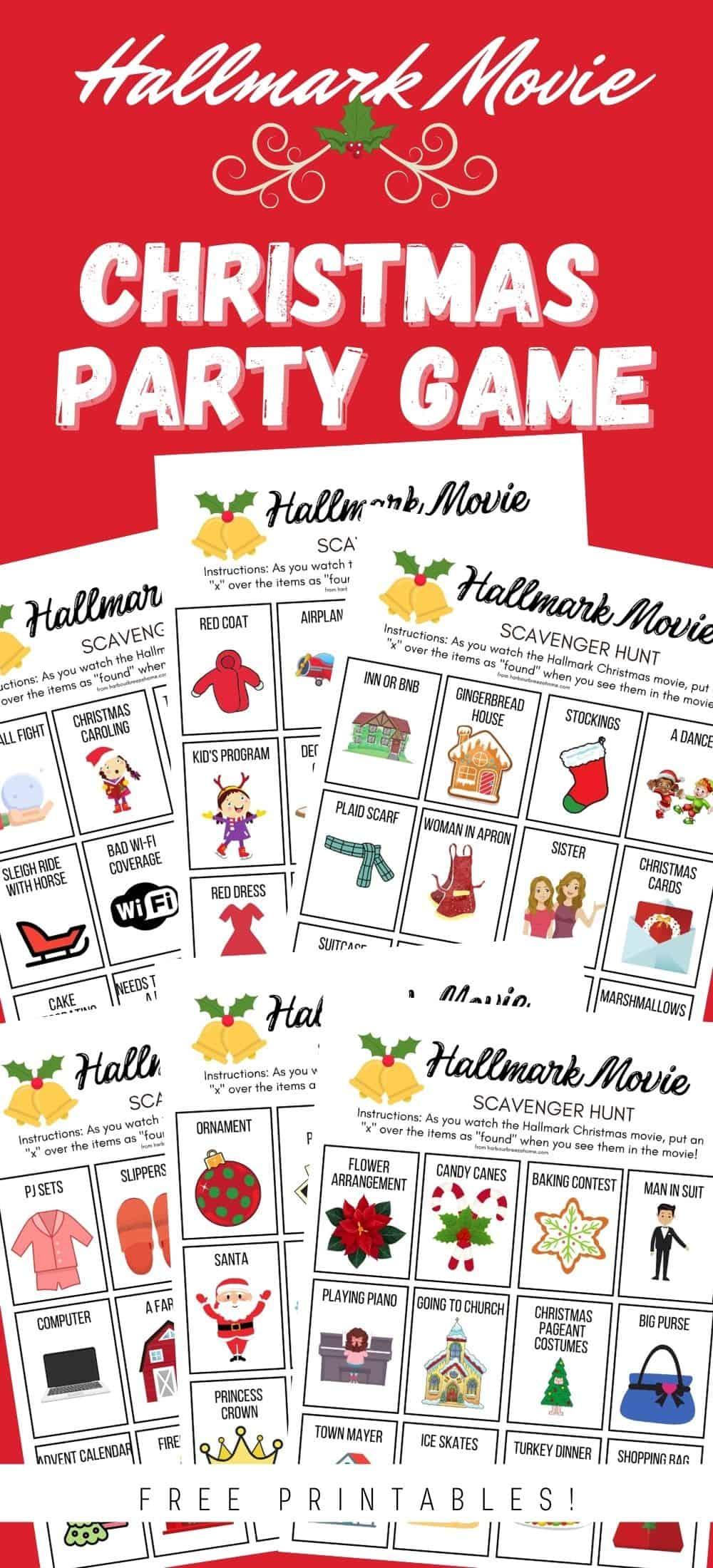 Christmas Party Games - Hallmark Christmas Movie Scavenger Hunt
