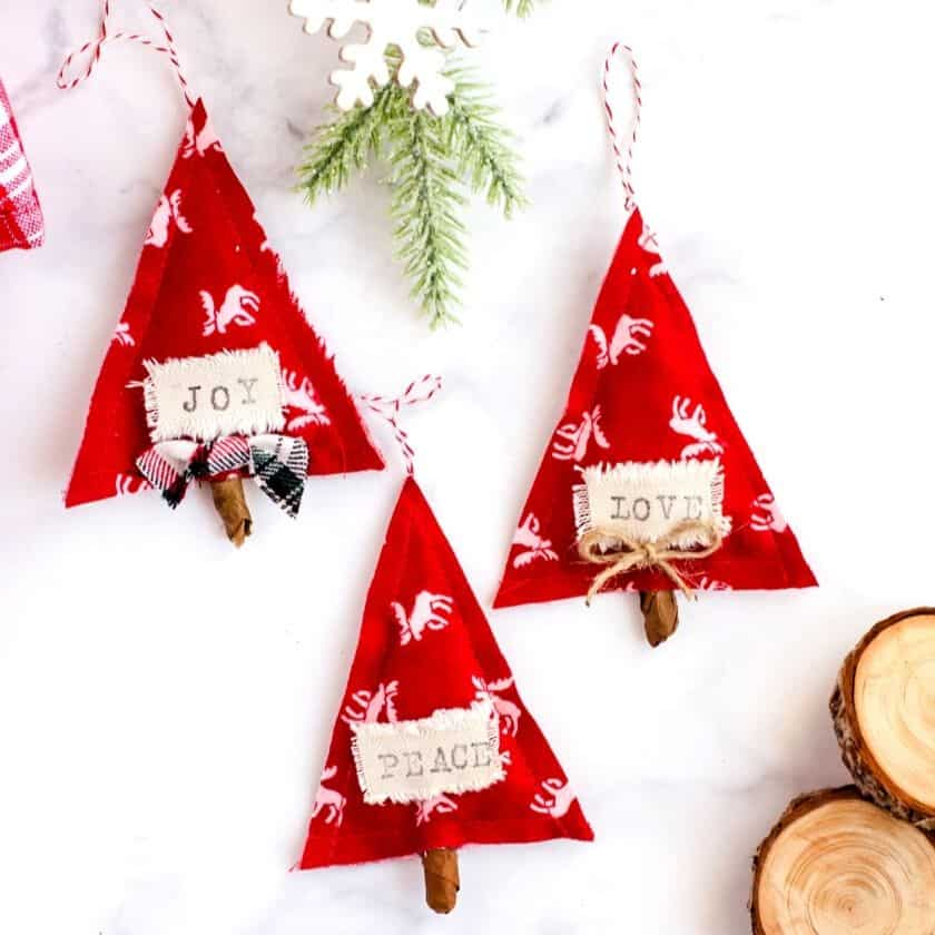 How to Make Simple & Meaningful DIY Scandinavian Christmas Ornaments Using Fabric