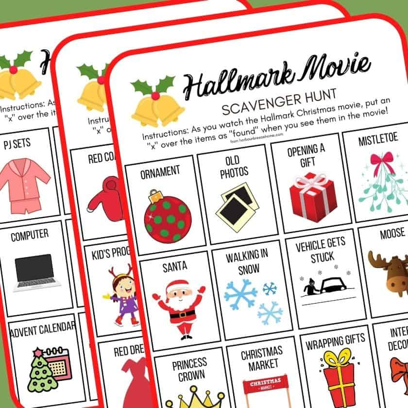 Hallmark Movie Christmas Party Game Ideas- Fun for the Whole Family