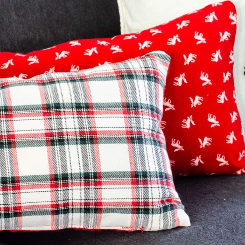 Easy Reversible DIY Accent Pillow Covers Perfect for Christmas