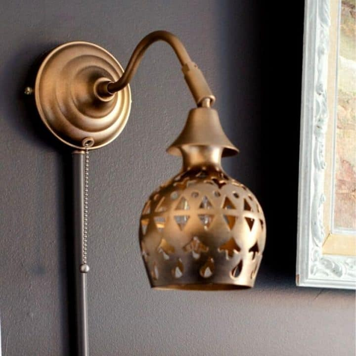 How to Hide a Wall Lamp Cord the Quick & Easy Way