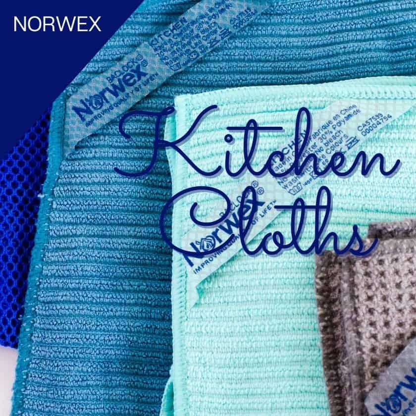 Cleaning up Confusion About which Norwex Cloth to Use in the Kitchen