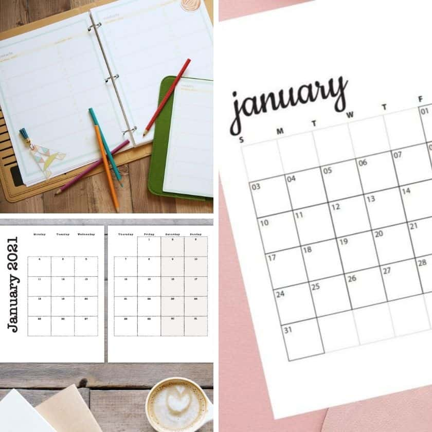 Free Printable Calendars for the New Year