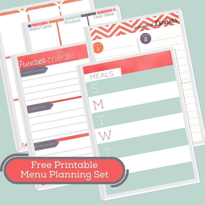 Free Printable Grocery List + Meal Planner