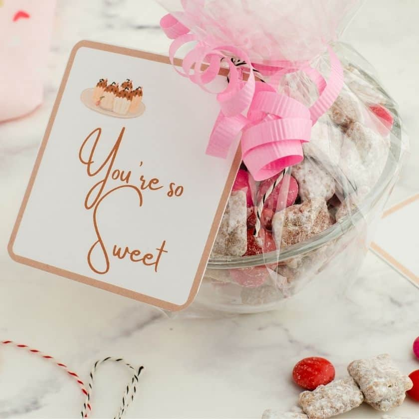 Free Printable Gift Tags for Valentines Treats