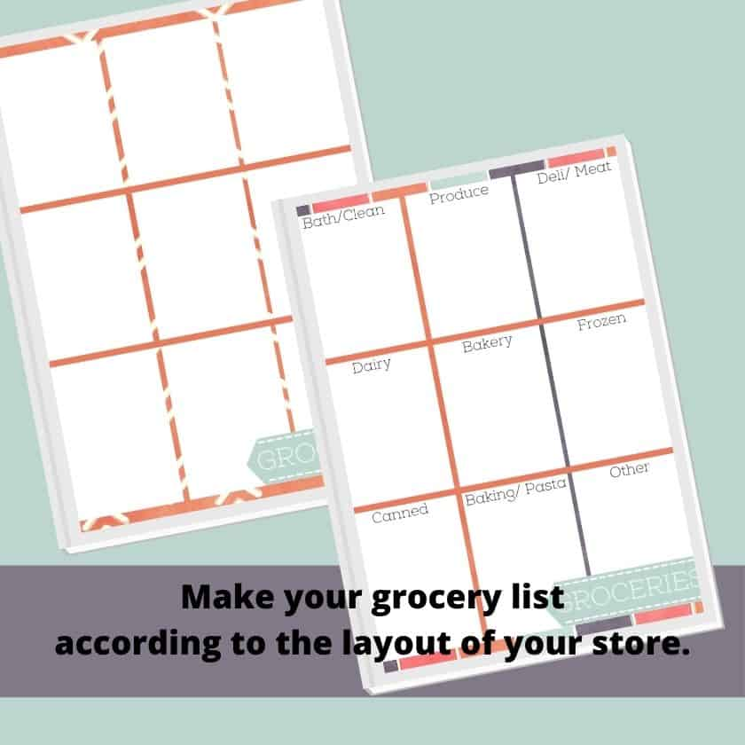 Free printable grocery list by category and free printable shopping list for groceries
