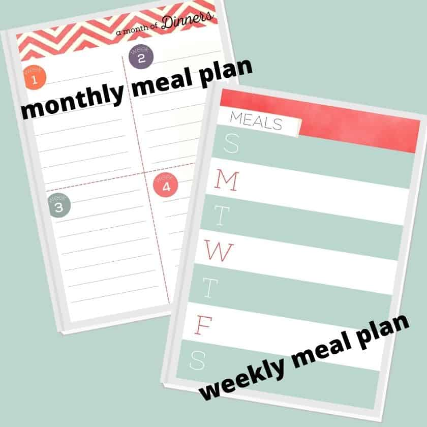 Use printable menu plans first before you use your free printable grocery list templates.