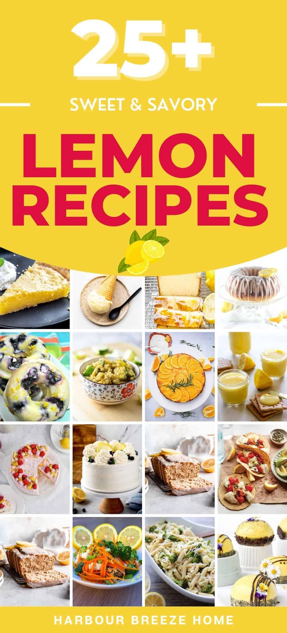 Sweet & Savory Lemon Recipe Ideas