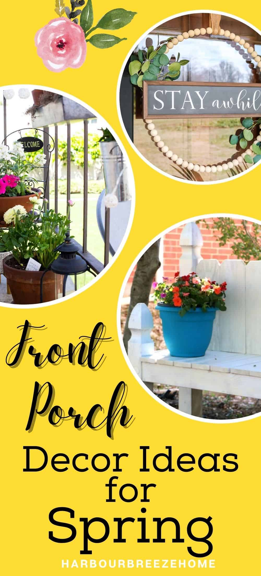 Front Porch decor ideas for Spring