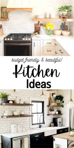 Kitchen Ideas for decorating and renovating that don't cost a lot.