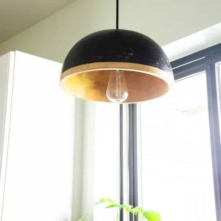 How to Make a DIY Kitchen Pendant Light out of a Bowl