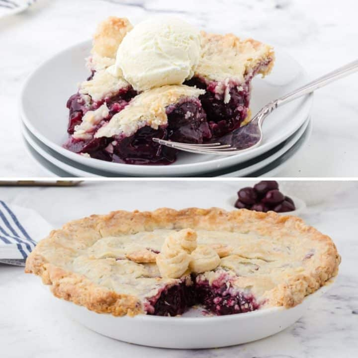 Homemade Cherry Pie with Canned Cherries