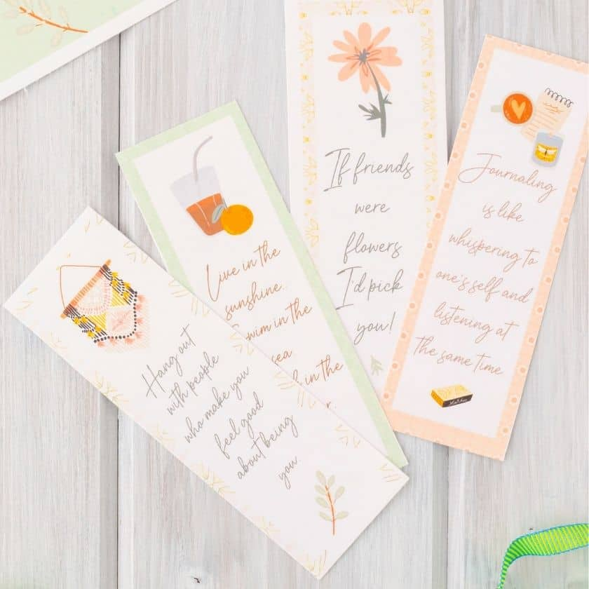 Use These Free Printable Bookmarks for Yourself or Give to a Friend