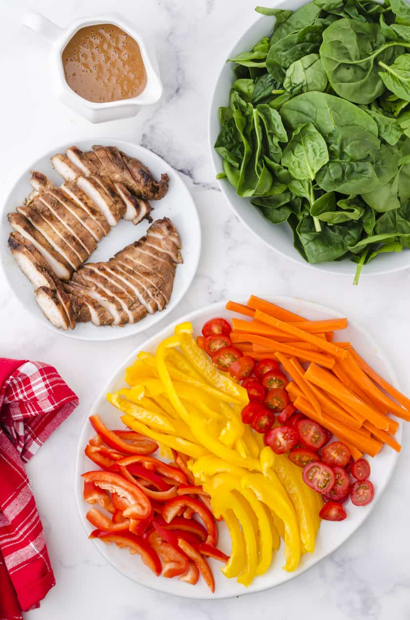 ingredients for grilled chicken salad for 2 people