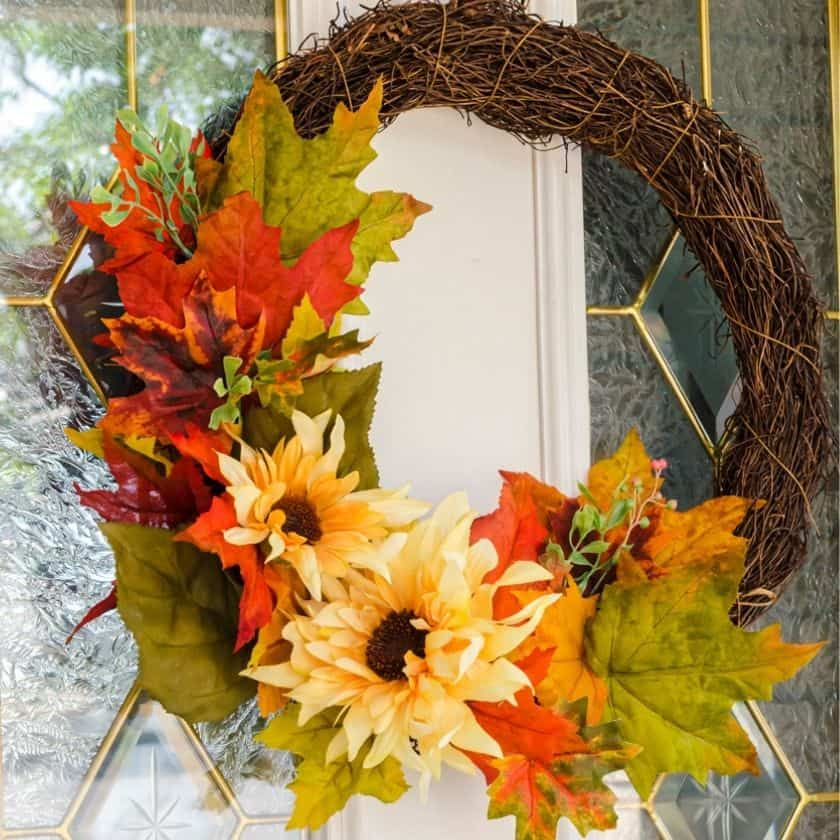 Quick & Easy 5 Minute Fall Wreath