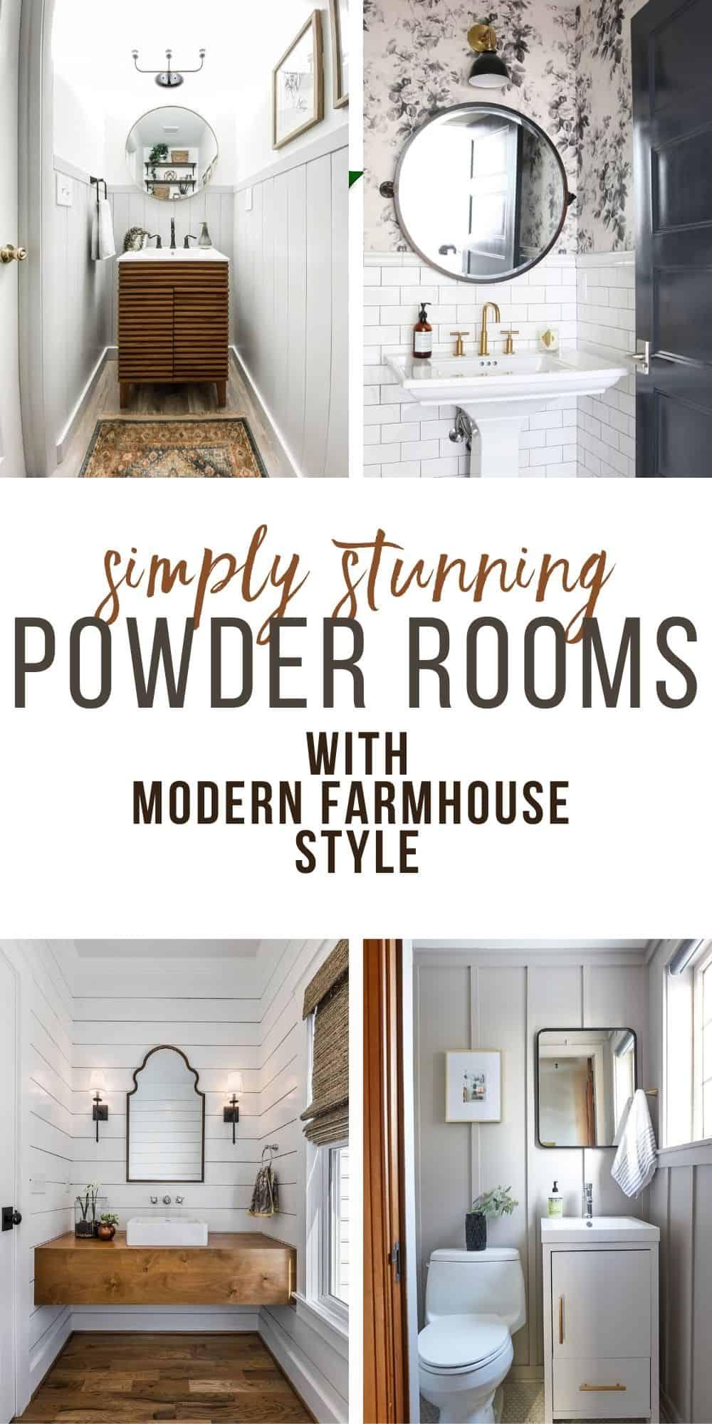 Powder Room Ideas with Modern Farmhouse Boho Style