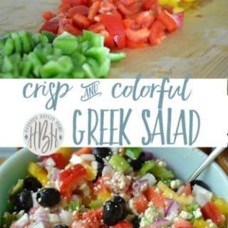 Crisp & Colorful Summer Salad {Greek Salad}