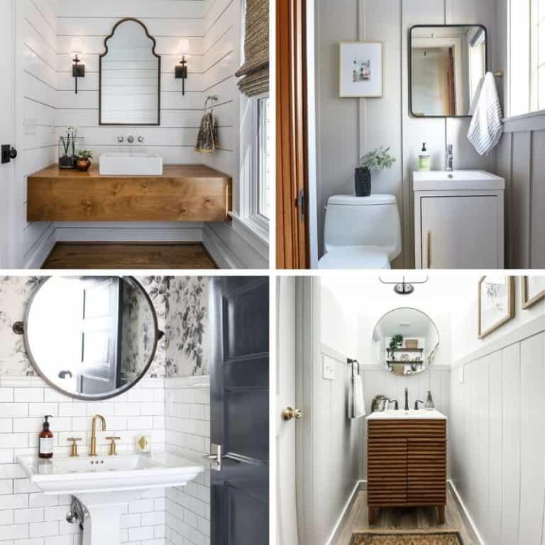 Stunning Small Powder Room Ideas with Modern Farmhouse Boho Style