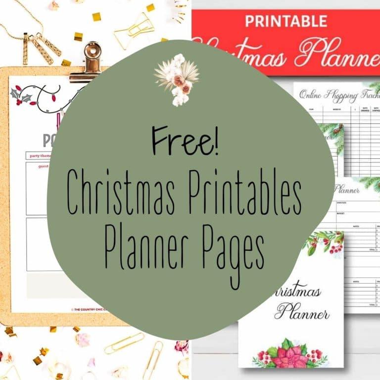 Free Printables for an Organized Christmas